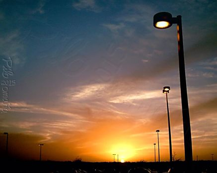 Sunset at TAMIU by photo-tlacuilopilo