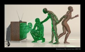 The evolution of the digital human being by arteandreas