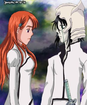 Ulquiorra and orihime by Youichiz2011