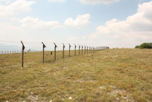 Barbed wire fence I by CULAter-stock