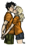 From Burdge's Tumblr: Percy and Annabeth by youowemeasoda