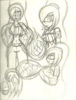 Paulinda/Mete-Arms Sketch Dump by AtomicKingBoo