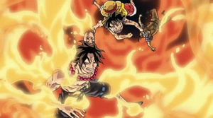 Luffy rescues Ace by YANUTO10
