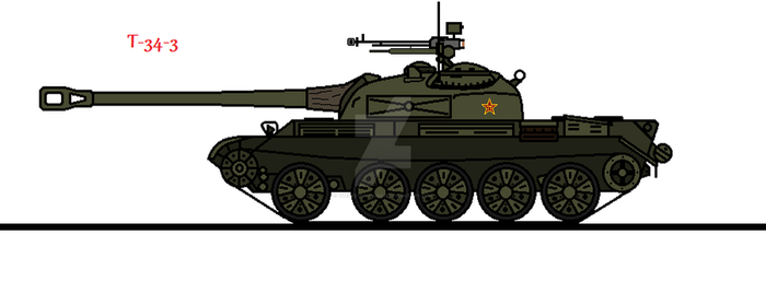 T-34-3 (Updated) by thesketchydude13