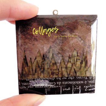 Little Forest Collage Necklace by LaNarizDeAnais