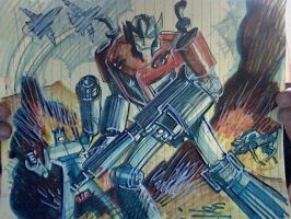 The original Transformers sketch by danablackarts