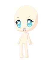 Chibi Girl Base by Goldflower8