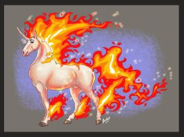 Rapidash by fuzzypinkmonster