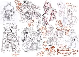 Brummie Brony meet pony sketch up by Jowybean