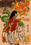 calligraphy Warrior colored by ShandianLei
