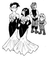 DH - Bridesmaids by ironychan