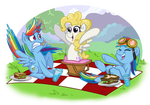 Comm - Surprise Picnic by BuckingAwesomeArt