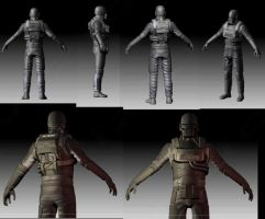 3D Proyect- Renegade Soldier Model by Ayax Vizioli by NRGart7