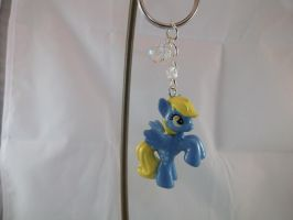 Derpy Hooves Custom Cutie Mark Charmed Keychain by DeadHeartMare