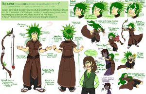 Ibara Amos Reference Sheet by Pheoniic