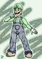 Luigi in color by TheMightyRohrer
