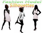 Fashion Model Silhouettes Stock by Devil-TheDeviant