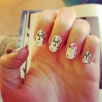 Lennon Nails by crazy4beatles