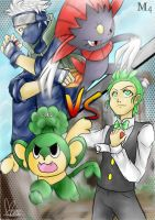 Pokemon Battle: Cilan VS Kakashi by Marini4