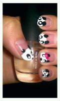 Panda Nails by Alluring-Angel