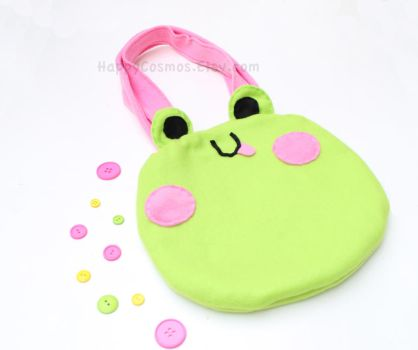Cute Froggy Tote by CosmiCosmos