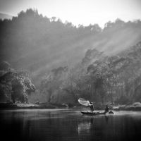 Situ Gunung's Morning Fishing by thesaintdevil