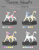 Pastel Theme Cat Adopts - moved by Nahemii-chan