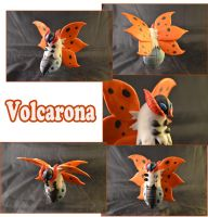 Weekly Sculpture: Volcarona by ClayPita