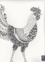 Ornate Rooster (final) by gyerase