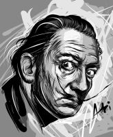 Salvador Dali - Adobe Ideas Vector by Atebitninja