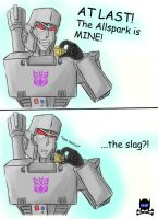 THE ALLSPARK IS MI- DA SLAG?? by PirateNikki