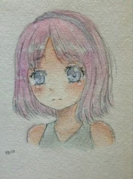 Watercolor sketch  by AmiChan120