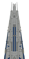 Mass Effect Qogir-class Dreadnought by Seeras