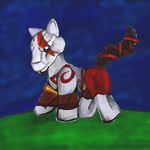 Videogame MLP Crossover: Kratos Pony by dragonfire53511