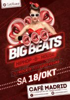 Eventflyer big beats by homeaffairs