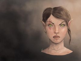 Bosmer Sketch by ThePurpleSorcerer