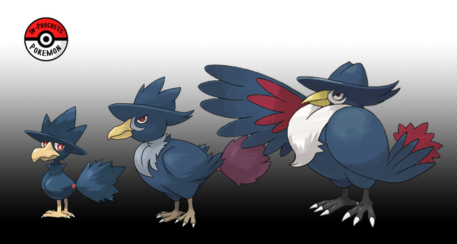 198 - 430 Murkrow Line by InProgressPokemon