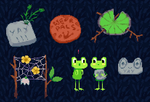 frog greeting cards by Sout