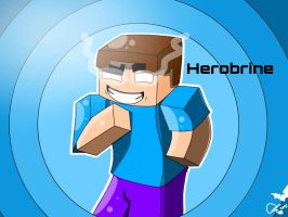 Herobrine in a cartoon by Enderdragongirl11