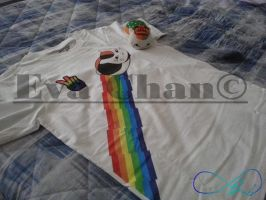 t shirt for  gay pride  2013 with mascotte by onlyagame89