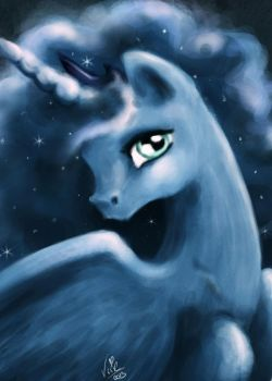 Luna Speed Paint by vixetra