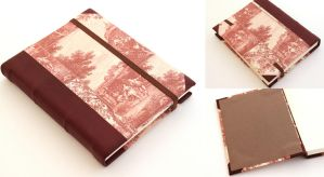 Leather Journal - Red Countryside by GatzBcn