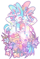 sylveons by Gullacass
