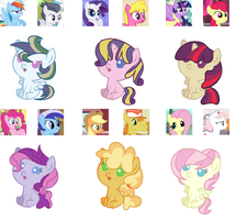 Crack Shipping Adopts-Mane Six Edition ONE LEFT by Violet-BlueAdopts