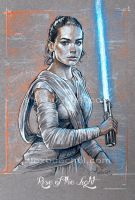 Rey - Star Wars Force Awakens - By Alex Buechel by AlexBuechel