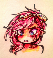 Vi in Sharpies by Linkerbell