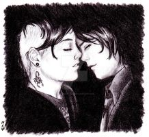 Frerard - Almost Kiss by ART-RevolveR