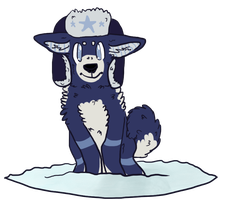 Clyde the Snow Doge by foxyko