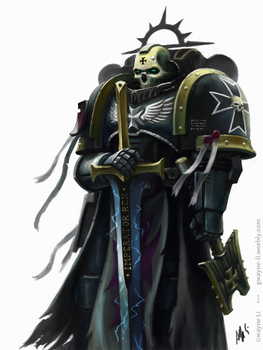 Black Templar Chaplain by Eupackardia