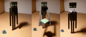 Enderman Papercraft by arcanin-ex